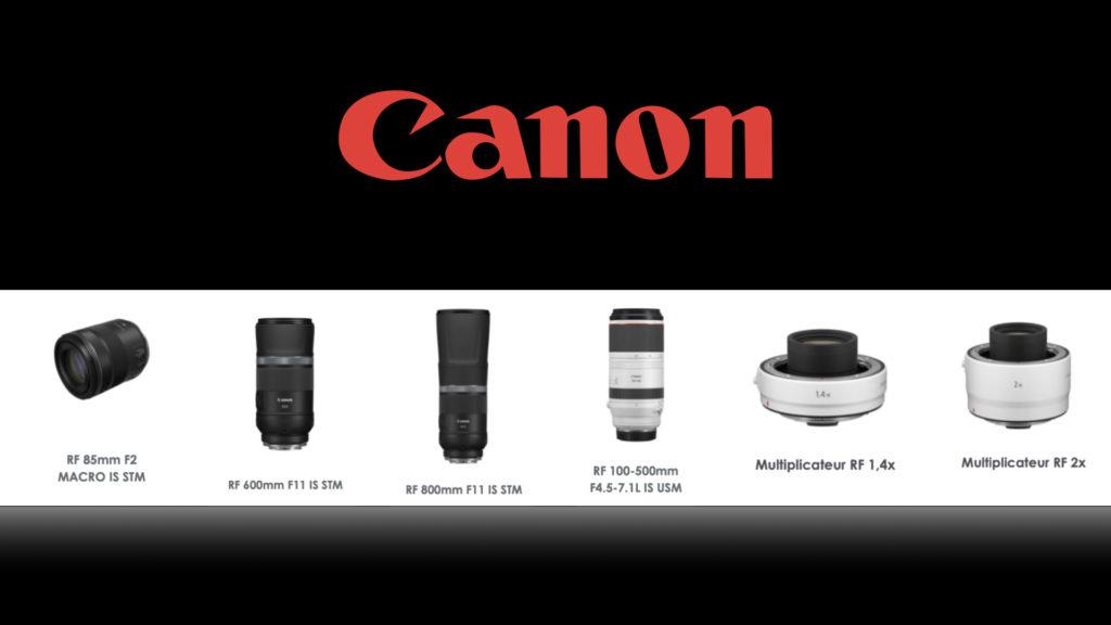Canon étend le potentiel de la gamme de ces objectifs RF © DR