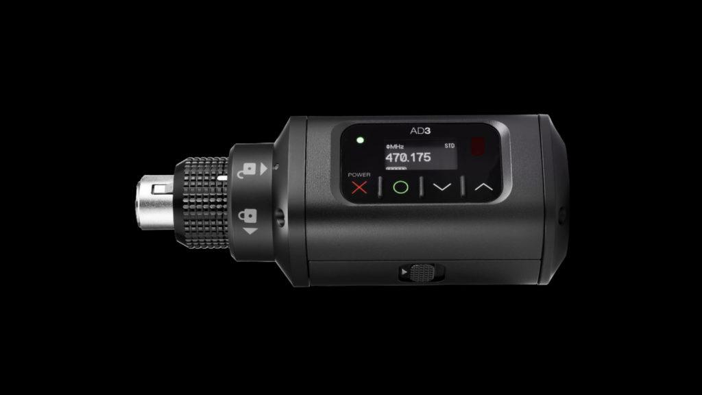 Nouvel émetteur Shure Plug-on AD3 : la qualité Axient Digital pour tous les micros © DR