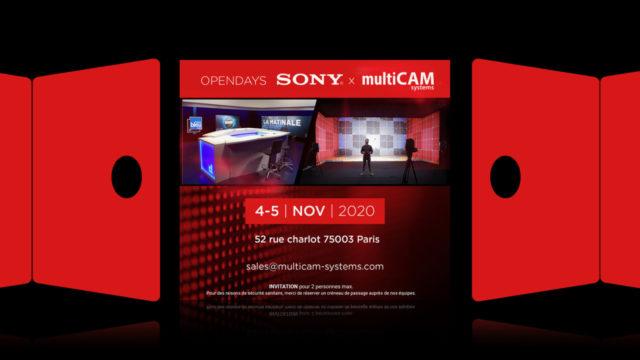 """Un évènement en ligne et 2 journées """"Portes ouvertes"""" multiCAM systems & Sony © DR"""